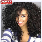 Fashion Women's Lace Wig Long Black Curly Wavy Synthetic Hair Heat Resistant NEW