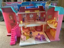 Vintage Blue Box Beverly Place Mansion Light Up  dolls house .Complete With Box