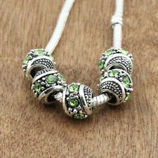 10pcs CRYSTAL silver SPACER BEADS FIT European Beads Charm Bracelet