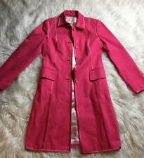 Banana Republic Hot Pink Spring Coat  Sz Medium Thick 100% Cotton $289