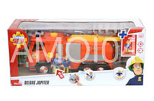 Fireman Sam Deluxe Large Jupiter Vehicle & Arnold McKinley, Penny Figurine *New
