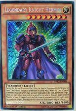 YuGiOh Legendary Knight Hermos DRL2-EN008 Secret Rare 1st Edition