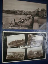More details for old postcards peel isle of man c1920s