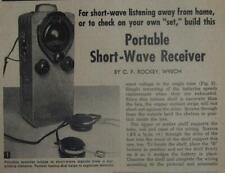 Portable Short Wave Receiver Tube powered 1954 HowTo build PLANS
