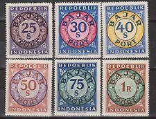 Indonesia Vienna printing Weense drukken 08 a-13 a MNH REPOEBLIK postage due