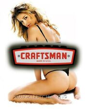 Craftsman Tool Sticker Sexy Girl Pinup Sexy Vintage Decal Mechanic Tool Box Usa