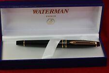 Waterman Expert Ii fountain pen, Black Gt, box, converter LooK