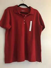 Croft & Barrow Women's XL Red Polo Shire