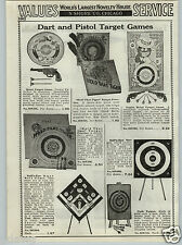 1937 PAPER AD Little Black Sambo Metal Pistol Gun Shooting Game Baseball Target