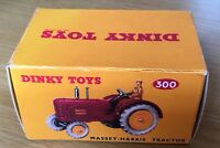 Dinky 300 Massey-Harris Tractor Empty Repro Box Only