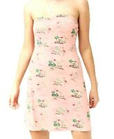 FOREVER 21 Strapless Pink Size M Flamingo Pattern Knit Short A Line Dress EUC