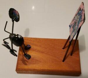 "Sand Flea Wire Art ""ARTIST"" Ocean City, MD Original Metal Sculpture UNIQUE!"
