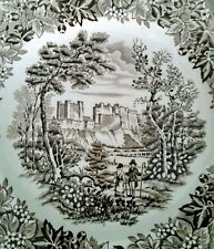 Castle Dessert 7 5/8 in English Ironstone Tableware Brown Staffordshire # 2