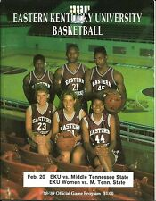1989 Eastern Kentucky-Middle Tennessee Men's/Women's Basketball Program
