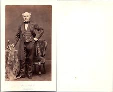 CDV Constant Allart, homme politique, député de la Somme, circa 1860 Vintage CDV