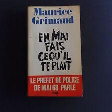 MAI 68 en Mai fais ce qu'il te plait de Maurice GRIMAUD