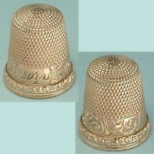 Antique 10 Kt Gold Anniversary Thimble by Waite, Thresher Co. * Circa 1890s