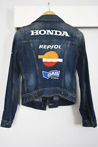 REPSOL HONDA Marquez Stoner MotoGP Denim Jacket Genuine Size XS