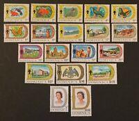 Dominica. Birds & Pictorials. SG272a/290. Full Set. 1969 MNH. (B340)