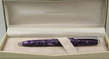 Levenger True Writer Purple Majesty & Chrome Ballpoint Pen - New In Box