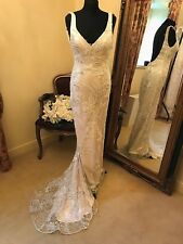 Sottero & Midgley Wedding Dress FINLEY Size 8  Ivory/Pale Gold  NEW!!!