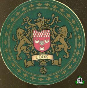 English Heraldic Coaster: Cook