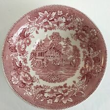 Wedgwood England Avon Cottage Pink Vegetable Bowl Made in England