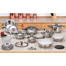 SALE 28-pc 12-Element High-Quality, Heavy-Duty Stainless Waterless Cookware Set