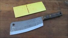 UNUSED Vintage Frontier Forge Japanese Carbon Steel Chef's Meat Cleaver Knife