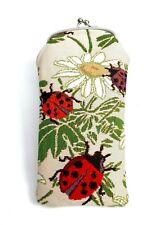 Ladybug Sunglass Case Eyeglass Bag Pouch Cotton Tapestry