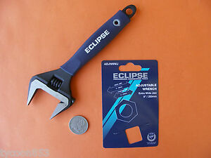 """EXTRA WIDE DEEP JAW SHIFTER ADJUSTABLE WRENCH 8"""" / 200mm ECLIPSE SHEFFIELD"""