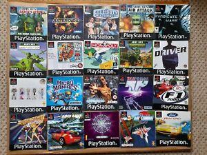 20 x JOB LOT of PAL PlayStation 1 PS1 GAMES INSTRUCTION MANUAL BOOKLET BUNDLE *E