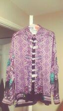 Vintage Creme De Silk Baroque Silk Dress Shirt XL! Halloween