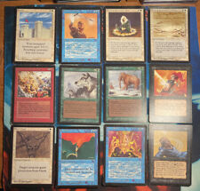 MTG COLLECTION 12x BETA MAGIC CARDS 1x Power Sink, Black Ward, Aspect of Wolf ++