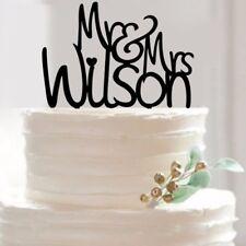 Acrylic Mr & Mrs Wedding Party Cake Topper Bride Groom Couple Lover Wedding Gift