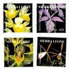 MODERN GEMS - Sierra Leone - Orchids - Set of 4 - MNH