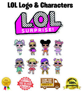 LOL Logo & Characters Icing Cake Topper Cupcake Wafer A4 and A3 Sheet