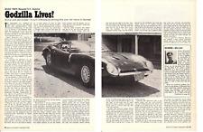 1968 BIZZARRINI GT AMERICA 327/350 HP ~ ORIGINAL 5-PAGE ROAD TEST / ARTICLE / AD