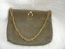 WHITING AND DAVIS Beautiful Brown Shade Metal Mesh Chain Strap Purse/EXCELLENT