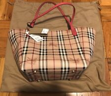 Burberry Women's Small Canterbury Haymarket Check Colors Tote NWT And Dust Bag