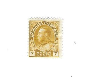 Canada 1916 Admiral 7c Yellow  #113 Fine   MH $30
