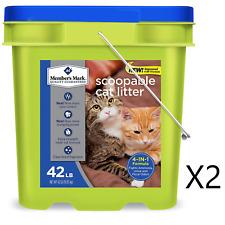 Member's Mark 4-in-1 Formula Scoopable Cat Litter, 42 lb.2 pack