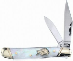 "Bulldog Genuine Mother of Pearl Peanut 2 7/8"" Pocket Knife Hand Made BDG-107MOP"