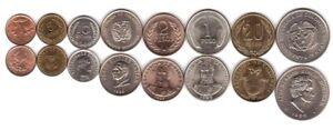 Colombia - set 8 coins 1 5 10 20 Centavos  1 2 5 20 Pesos 1965 - 1989 UNC / aUNC