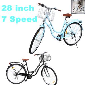 """28 Zoll Citybike Stadt Fahrrad Damenrad 28"""" 7 GÄNGE Damen Shopping Fahrräder"""