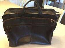Dark Brown Genuine Leather Briefcase Laptop Bag w/Express Scan Technology