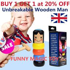 Immortal Daruma Small  Wooden Man Stubborn Unbreakable Wood Magic Game Toy Gift