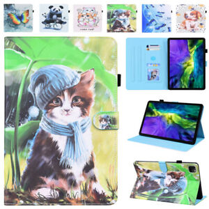 Pattern Leather Smart Stand Case Cover for iPad 9.7 10.2 10.5 Pro 11 Air 4 Mini