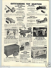 1957 PAPER AD Andy Gard Toy Electric Magnetic Crane MG Sports Car Ride Em Plane