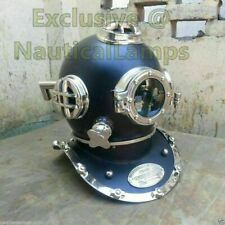 Helmet Brass Black Morse Diving Helmet Antique Boston Marine Scuba Navy Divers